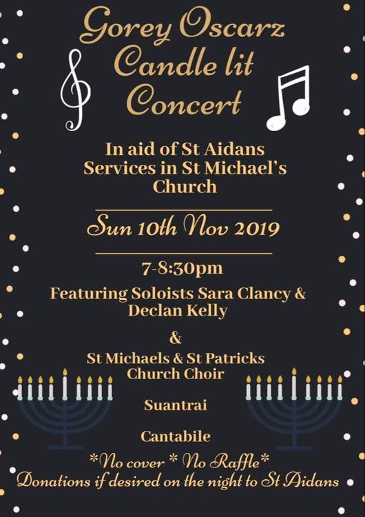 Gorey Oscarz Candle Lit Concert November 2019